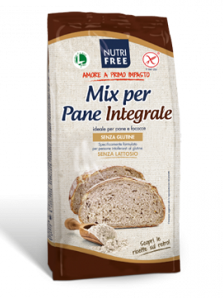 Wholemeal gluten-free  bread mix