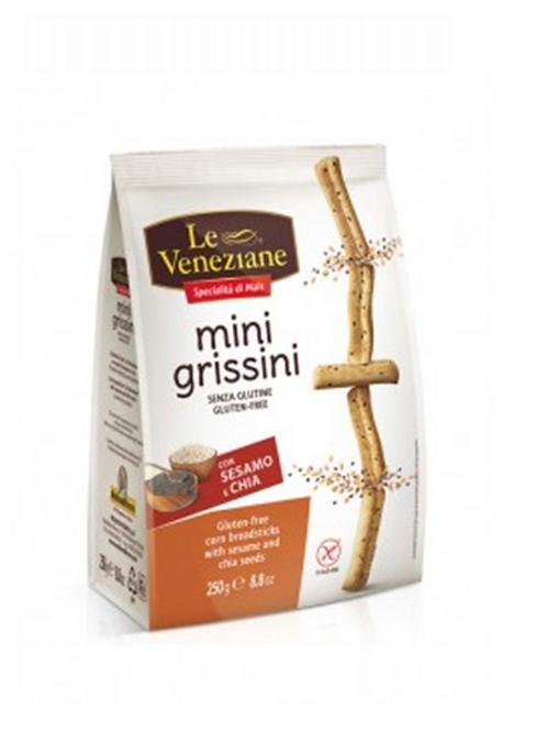 Mini grissini with sesame gluten-free