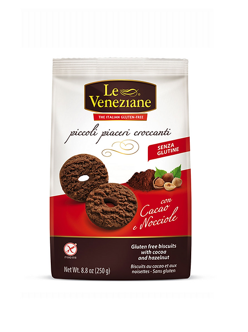 LE VENEZIANE Biscuits with cocoa and hazelnuts gluten-free