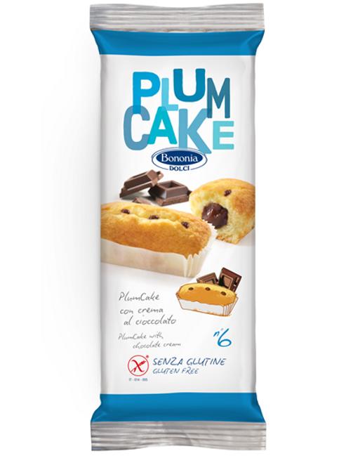 Bononia plumcake with chocolate cream gluten free