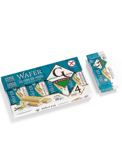 Gluten-free wafer filled with vanilla cream