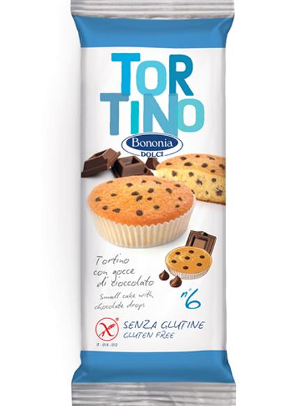 Bononia plumcake with chocolate drops gluten free