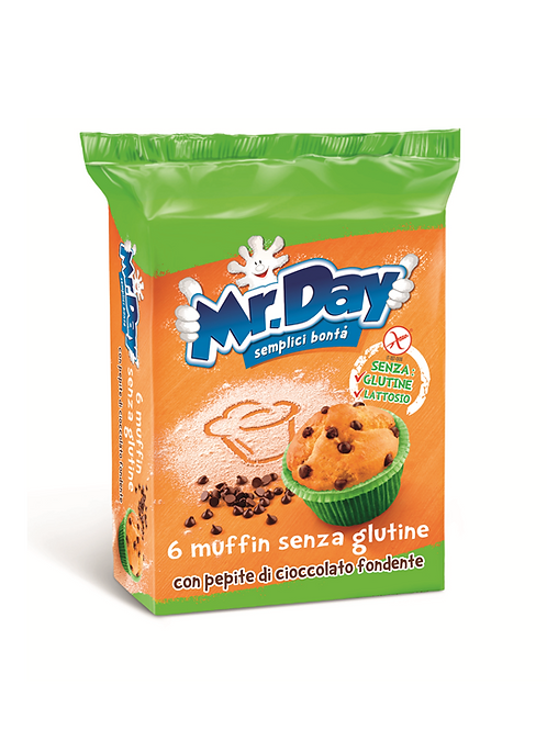 Mr. DAY muffins with chocolate drops gluten-free