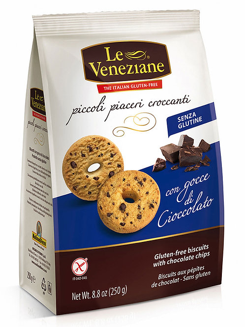LE VENEZIANE Biscuits with chocolate chips gluten-free