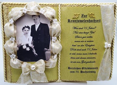 Kronjuwelenhochzeit -75-jähriges Ehejubiläum- Dekobuch für Foto