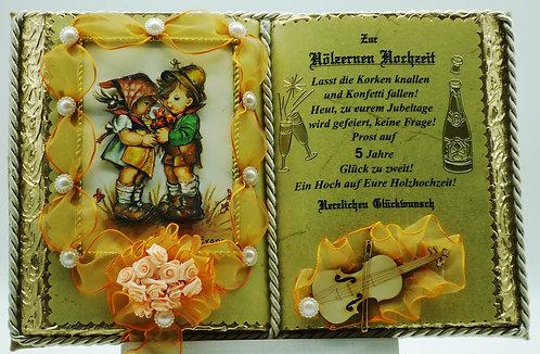 Hölzerne Hochzeit -5-jähriges Ehejubiläum- Dekobuch