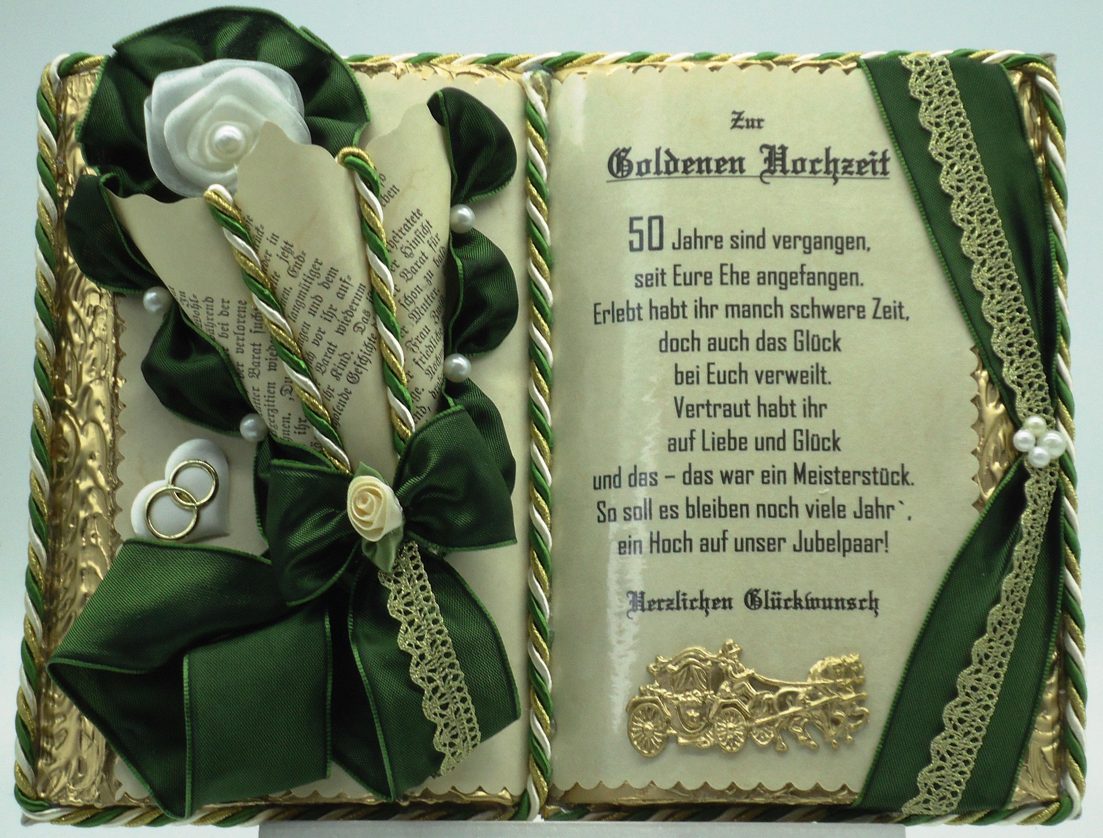 Deko Buch Zur Goldenen Hochzeit