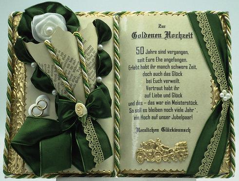 Deko-Buch zur Goldenen Hochzeit