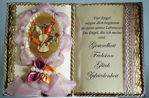 """Spirituelle Geschenke """"Schutzengel"""" Taufe/Geburt/Kommunion/ Dekobuch"""