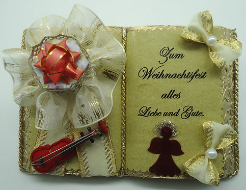 Weihnachts-Dekobuch für Schmuck-/Geldgeschenke
