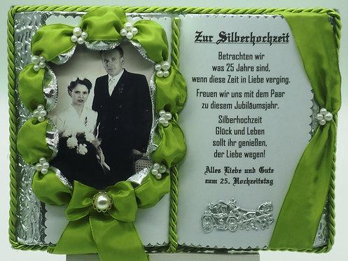 Silberhochzeit - 25-jähriges Ehejubilläum - Dekobuch für Foto