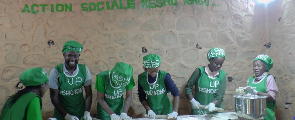 Production des biscuits pour les enfants malnutris