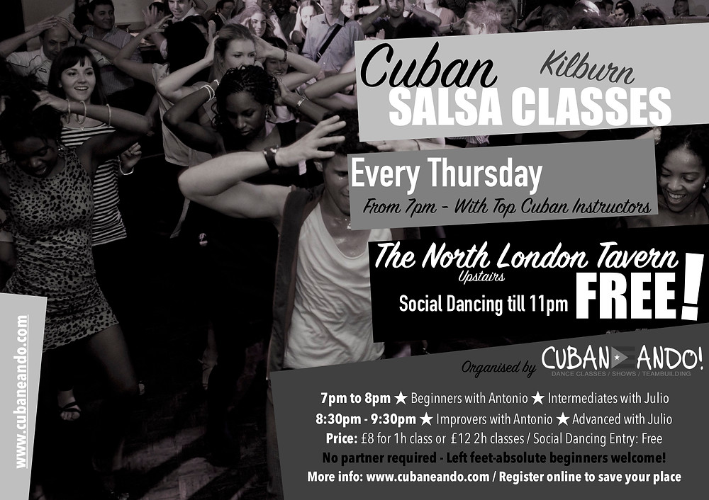 Salsa classes in Kilburn