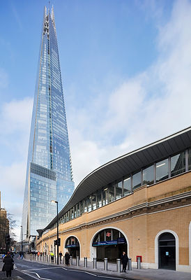London Bridge station with Shard in dist