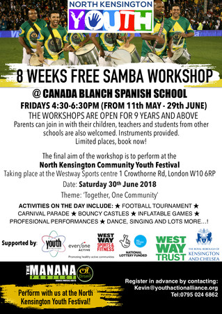 Free Samba Drumming Workshops