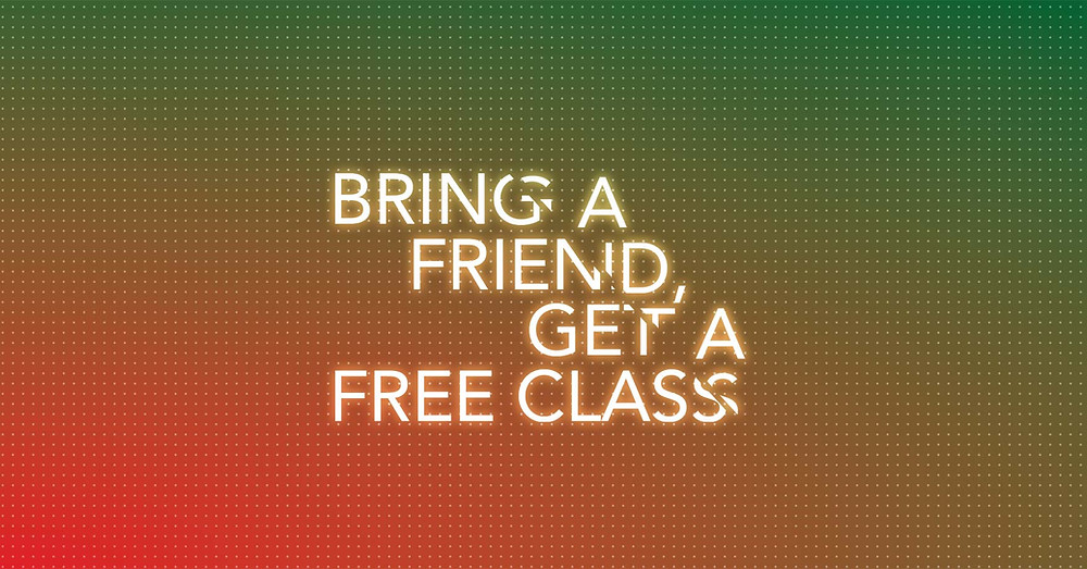 To get aclass completely FREE, you just need tointroduce andbring a friend to our beginner's salsa classes on Fridays or Bachata and Cuban Salsa on Tuesdays. You only need to print this email or show it at the door on your phone. Offer available until the 27th ofJanuary only.