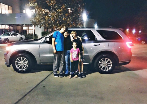 "I would like to send a HUGE shout of congratulations to Amber and her family on their new Durango!   Amber called in asking for a ""no BS"", ""straight up"" professional (literally her words) and was transferred to me. We talked about her bottom line and price was HUGE. She was specific on the vehicle, but couldn't get anyone to work with her on payments.   I'm proud and honored to say that we were able to find the perfect Durango for Amber that met ALL of her needs, no compromises! 💙  Call, text, or message #MissApproval for your next vehicle!"