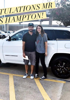 I'd like to #congratulate this lovely couple on their purchase of a 2015 Jeep Grand Cherokee Altitude! 🤗🤗  Mr. Hampton was thrown into the market after his vehicle was totaled a few days ago and immediately knew he wanted to be apart of the #Jeeplife!   As usual, we were one of the most aggressive in pricing ✅ AND we had an exterior/interior/trim level combination that is hard to find! ✅  Come see #MissApproval for your next vehicle!