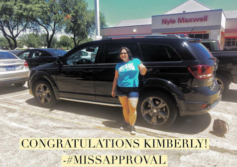 I am sooooo excited to congratulate Kimberly on her new #DodgeJourney!!   Kimberly was referred by her awesome sister, Laura, after her car broke down on the side of the road.   After finding the perfect vehicle for her needs, we agreed to tow in her vehicle and use it as a down payment.