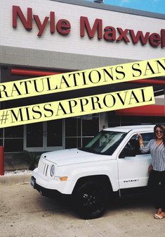 ✨🌸 CONGRATULATIONS TO Sandi 🌸✨on her new #JeepPatriot!!  📲 Call/Message #MissApproval for your next vehicle