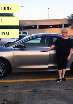 "✨ CONGRATULATIONS MS. PHYLLIS on your new #Chrysler200! ✨  Ms. Phyllis saw our commercial on Saturday evening and called in to set appointment! Before she came she told me, ""You better give me a good deal!"" and I promised her I would!  I am PROUD to say not ONLY did she get an AMAZING deal on her 200 but we also found her DAUGHTER a vehicle as well!  Bring your whole family and come see #MissApproval!"