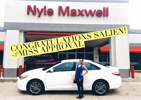 ✨🎉 CONGRATULATIONS SALIEN ON YOUR VERY FIRST CAR! #2016ToyotaCamry  🌸 First time buyers are #APPROVED with #MISSAPPROVAL! And the BEST PART is she got a rate under FIVE PERCENT!!!!  When I tell you I have the BEST finance department ever, BELIEVE ME!