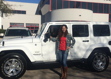"🎉 Congratulations to Kelli on her brand new 2017 Jeep Wrangler Sahara! When Kelli called me, her first question was, ""Can you even take my trade in? The transmission went out."" . . 👋🏽I can work with ALL trade ins! 👋🏽  . . 👉🏽 Do you owe money on your current car? I can pay it off AND get you into another vehicle! . . 👉🏽 Did you misplace the title but you need to trade it in? I can help with that too! . . Leave your worries at home and come see #MissApproval so YOU can drive away just like Kelli!"