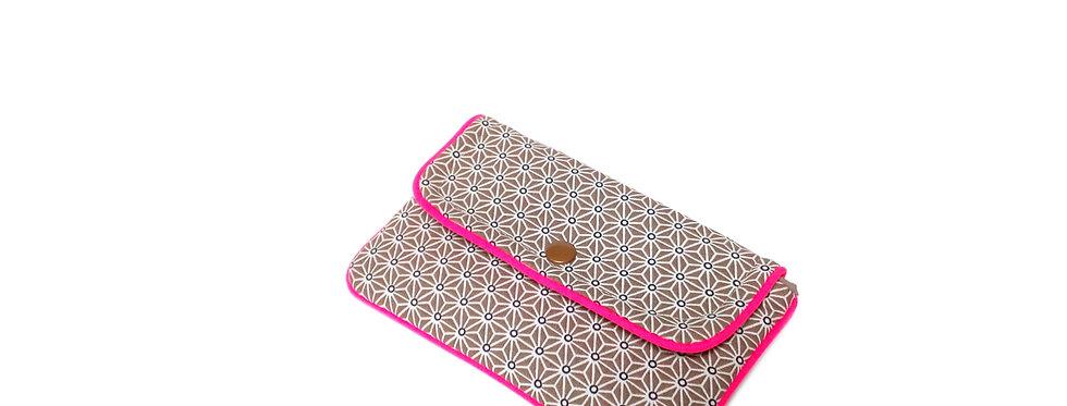 Pochette housse téléphone, housse iphone, pochette, étui -  Asanoha pink