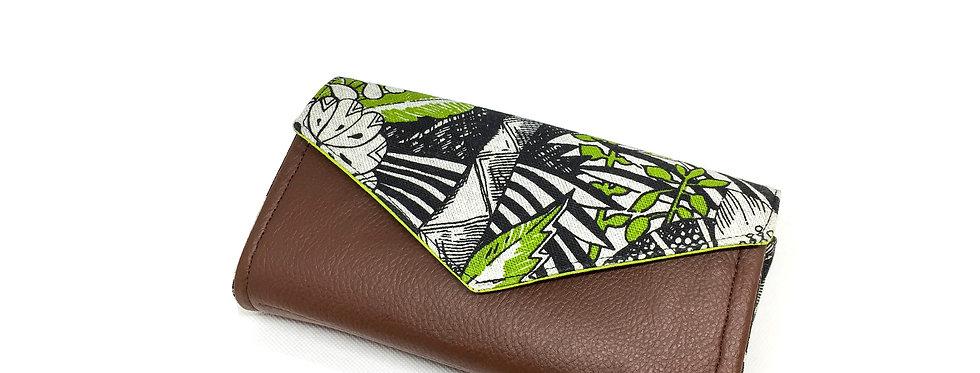 Grand portefeuille cuir, porte chéquier, porte monnaie, carte - Jungle & cuir