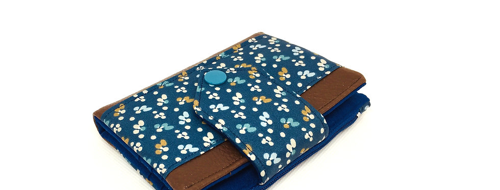 Petit portefeuille cuir avec porte monnaie et porte carte - Fiduo
