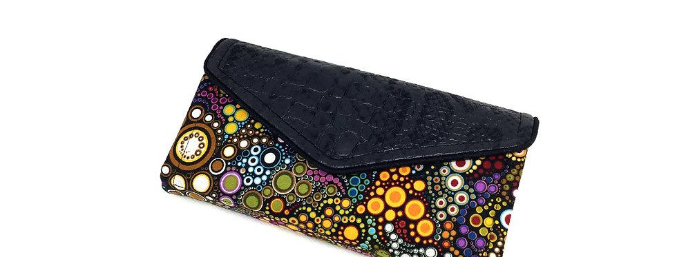 Grand portefeuille cuir, porte chéquier, carte, monnaie - Effervescence & cuir