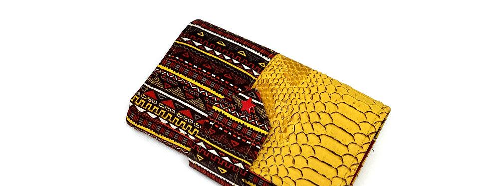 Grand portefeuille cuir, porte chéquier, porte monnaie, carte - Maya & cuir