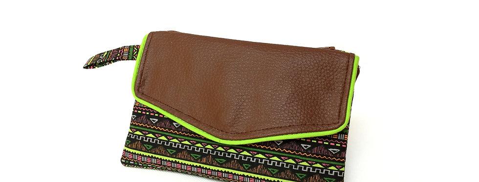 Pochette zippée, pochette tissu, rangement sac, trousse zippée - Maya & cuir