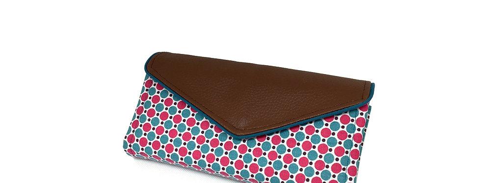 Grand portefeuille cuir, porte chéquier, porte monnaie, carte - Prune & cuir