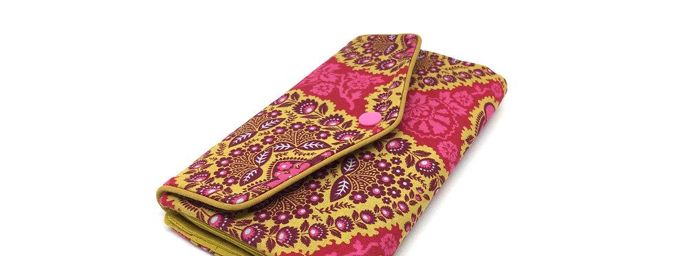 Grand portefeuille, porte chéquier, porte monnaie, porte carte - Heirloom coloré