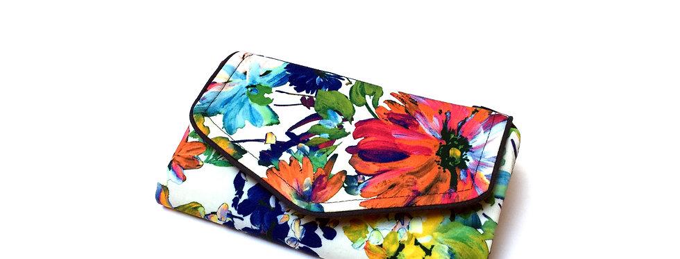 Grand portefeuille, porte chéquier, porte monnaie, porte carte -    Art floral