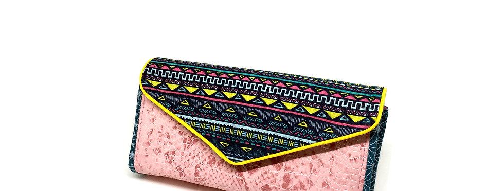 Grand portefeuille, porte chéquier, porte monnaie, porte carte - Tribal & cuir