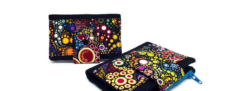 Ensemble portefeuille avec porte monnaie + porte carte - Effervescence
