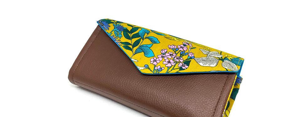 Grand portefeuille cuir, porte chéquier, porte monnaie, carte - Glycine & cuir