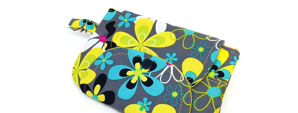 Pochette housse téléphone, housse iphone, pochette, porte monnaie - Pop flower