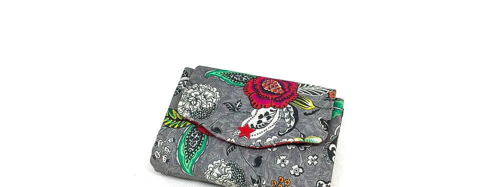Petit portefeuille, portefeuille femme, porte monnaie, carte - Rose tattoo
