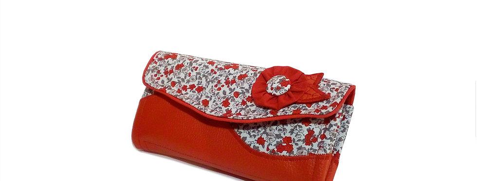 Grand portefeuille cuir, porte chéquier, porte monnaie, carte - Red Liberty's