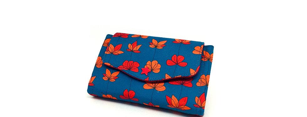 Petit portefeuille, portefeuille femme, porte monnaie, porte carte - Poppy