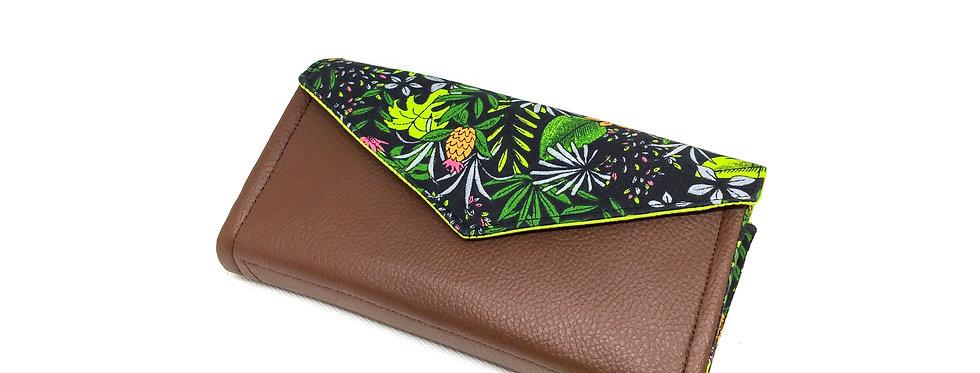 Grand portefeuille cuir, porte chéquier, porte monnaie, carte - Tropical & cuir