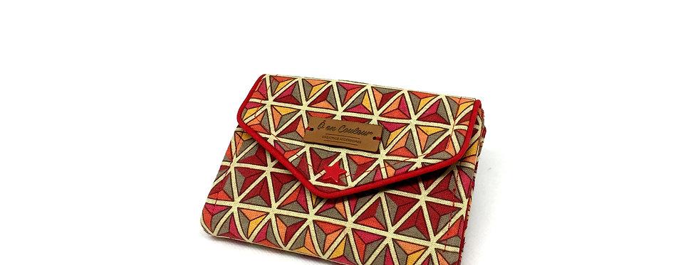 Petit portefeuille,  portefeuille femme, porte monnaie, carte - Caligraphique