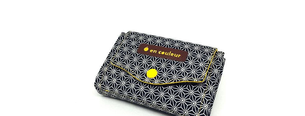 Petit portefeuille, portefeuille femme, porte monnaie, porte carte - Asanoha