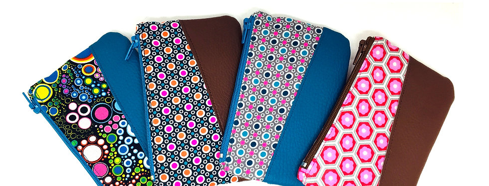 Porte monnaie zippée, pochette tissu, pochette femme - Little money