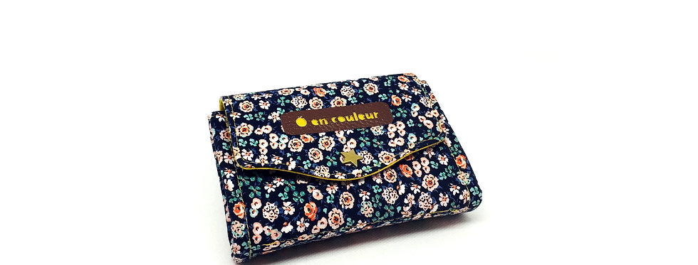 Petit portefeuille, portefeuille femme, porte monnaie, porte carte - Carmen