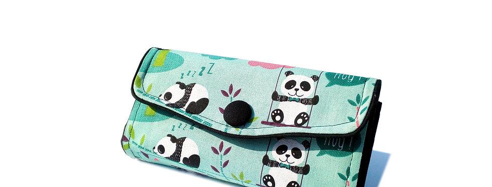 Grand portefeuille, porte chéquier, porte monnaie, porte carte - Little panda