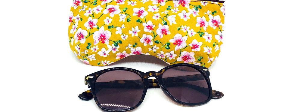 Etui à lunettes de soleil ou vue, pochette zippée, protection lunettes - Liberty